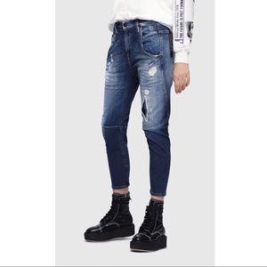 Diesel boyfriend skinny cropped jeans 23 24 25W